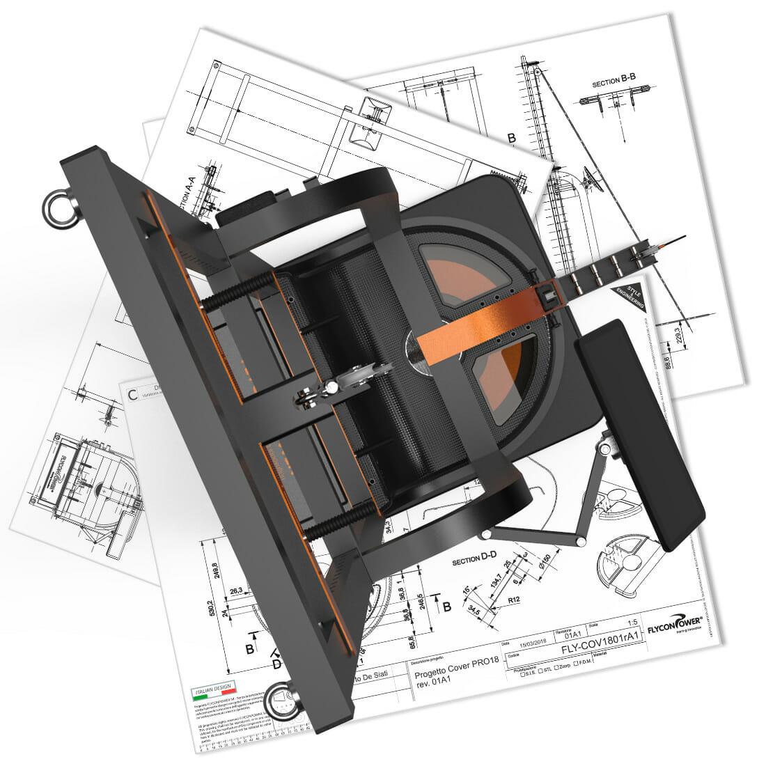 Icono Pro Flyconpower designer Alberto De Siati