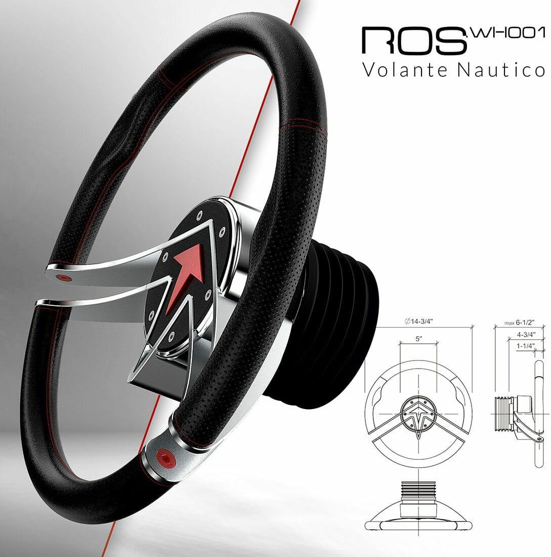 Volante nautico WH001 Ros Industrie Design by Alberto De Siati