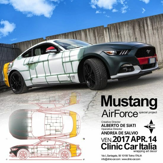 ALBDESIA CLINIC CAR WRAPPING MUSTANG