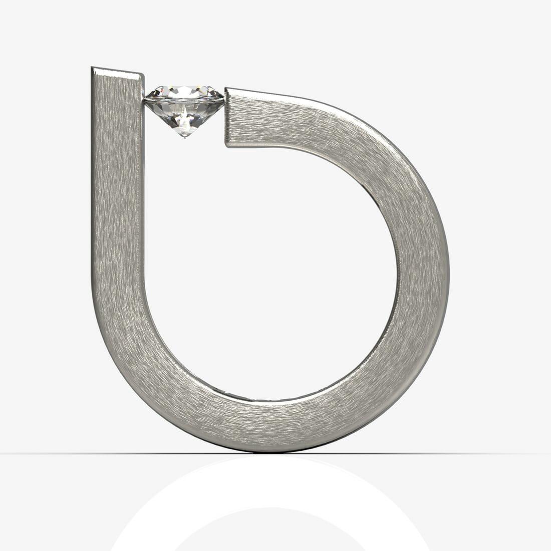 Solitario oro e diamante Moni5 designer Alberto De Siati
