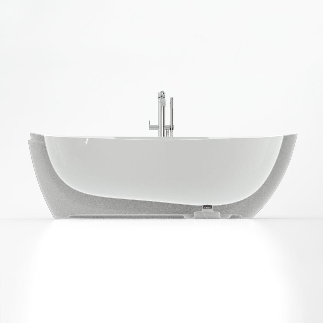 Vasca Bagno ONDA Designer Alberto De Siati