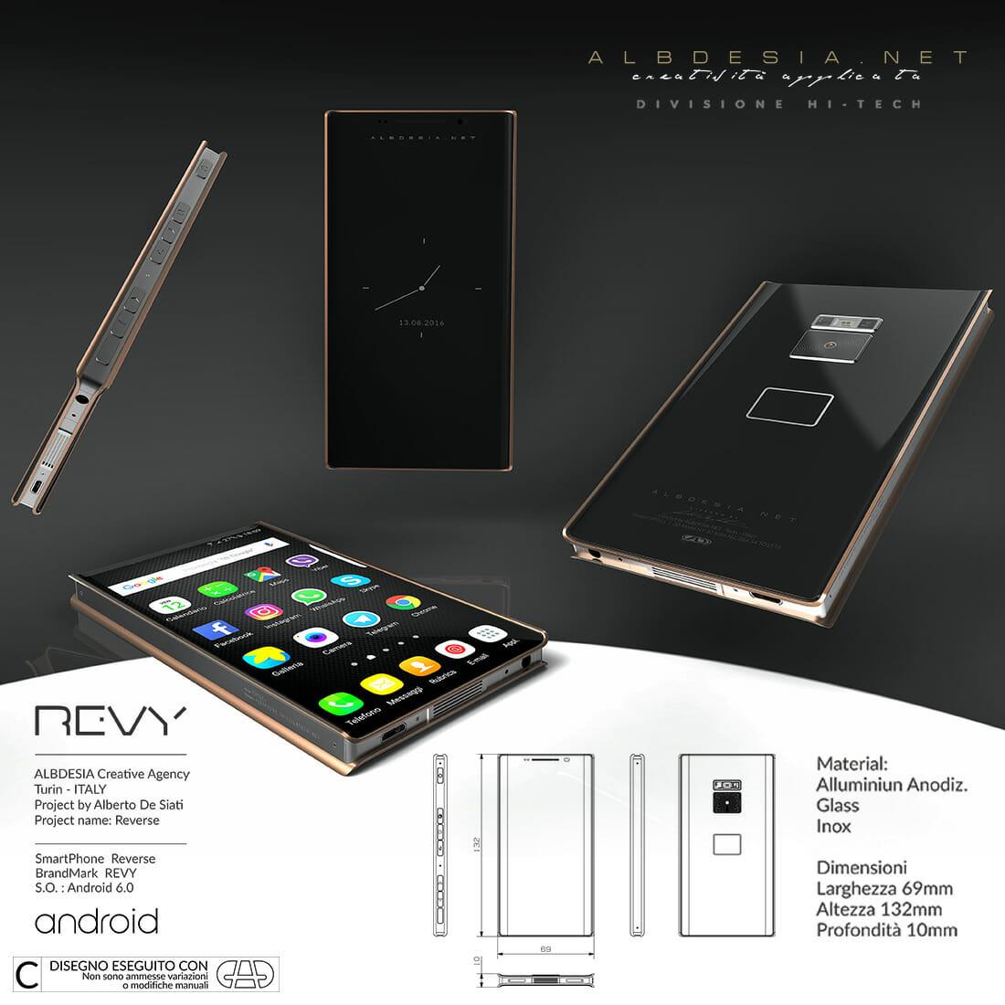 REVY Smartphone Designer Alberto De Siati